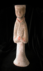 Western Han Painted Terracotta Sculpture of an Attendant