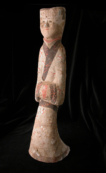 Western Han Painted Terracotta Sculpture of a Dancer
