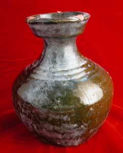 Eastern Han Brown-Glazed Terracotta Hu