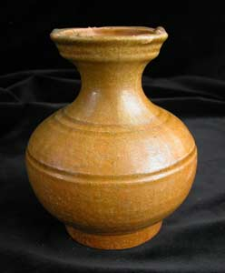 Eastern Han Ochre-Glazed Terracotta Hu