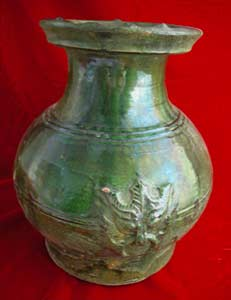Eastern Han Green-Glazed Terracotta Hu
