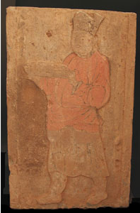 Painted Relief Panel Depicting a Chef