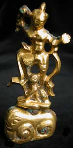T'ang Gilt Bronze Sculpture of a Lokapala