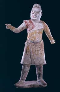 Tang Painted Terracotta Sculpture of a Foreign Groom