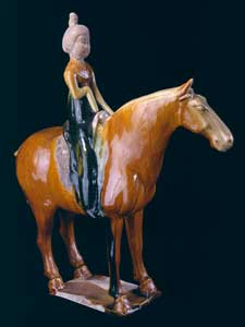 Sancai-Glazed Horse and Female Rider