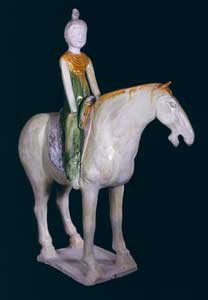 Tang Sancai-Glazed Horse and Female Rider