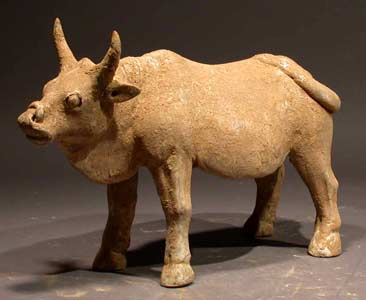 Tang Sculpture of a Standing Ox