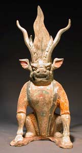 Tang Gilt Sculpture of a Spirit Guardian