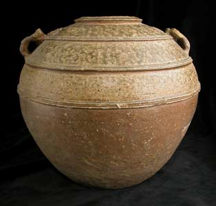 Warring States Glazed Terracotta Vessel