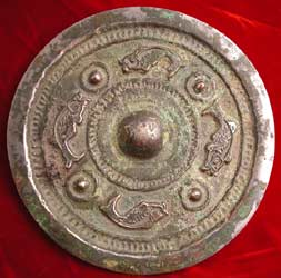 Han Silver-Plated Bronze Mirror