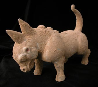 Terracotta Sculpture of a Mythological Beast