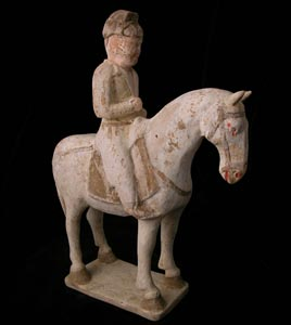 T'ang Polychrome Horse and Rider
