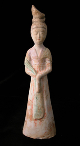 T'ang Sculpture of a Lady-in-Waiting