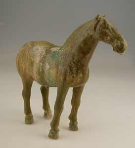 Tang Glazed Sculpture of a Horse