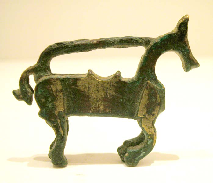 Islamic Bronze Lock Depicting a Horse