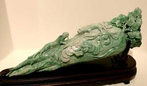 Jade Sculpture of a Root Vegetable
