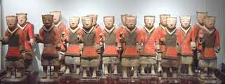 Set of Painted Pottery Soldiers