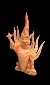 Tang Sculpture of a Spirit Guardian
