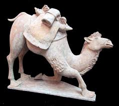 Tang Terracotta Sculpture of a Kneeling Camel