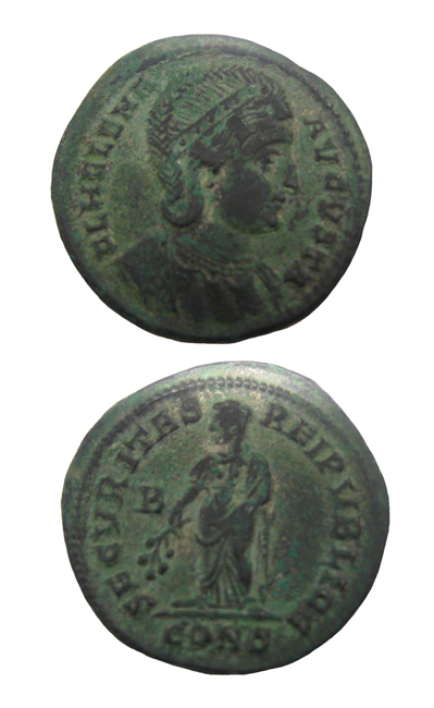 Bronze Follis of Helena I