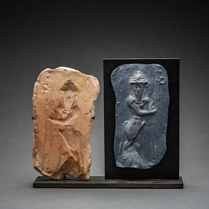 Old Babylonian Clay Mould with Standing Bull Deity
