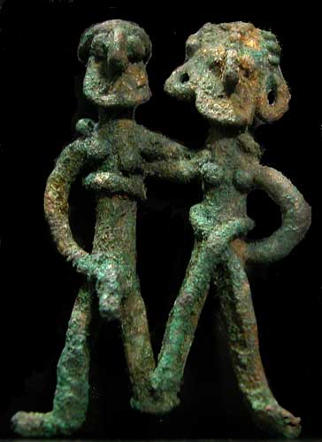 Elamite Bronze Figure of a Couple