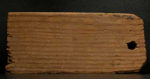 Egyptian Wooden Inscribed Mummy Tag