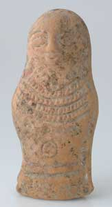 Late Roman/Early Byzantine Terracotta Sculpture of a Stylized Human
