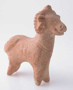 Roman Period Terracotta Sculpture of a  Ram