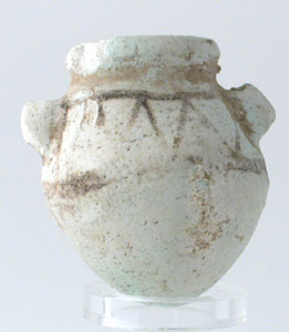 New Kingdom Egyptian Faience Amphora