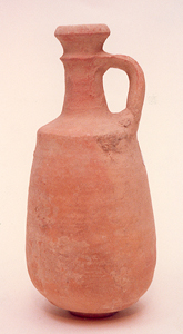 Iron Age Terracotta Decanter with Elongated Form