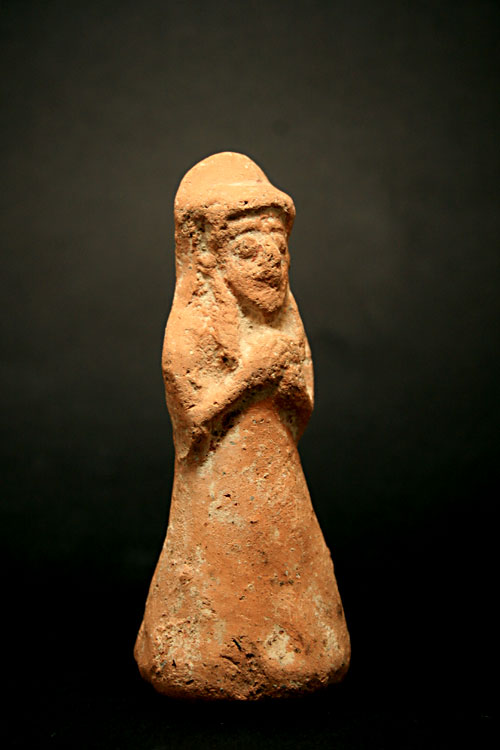 Ammonite Terracotta Figure of a Votary