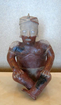 Ameca-Ezatlán Style Jalisco Sculpture of a Seated Man