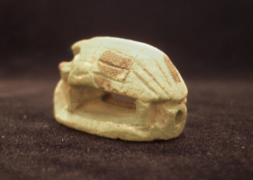Faience Amulet Seal in the Form of a Porcupine