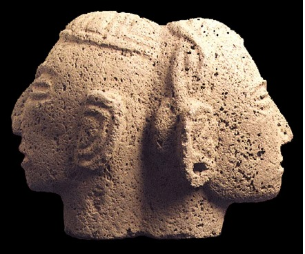 Basalt Double-Headed Trophy Head