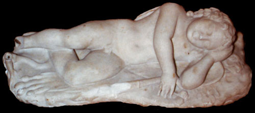 Marble Sculpture of Cupid Sleeping
