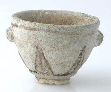 New Kingdom Frit Cup with Incised Lotus Decorations