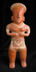 Pihuamo Style Colima Terracotta Sculpture of a Standing Woman