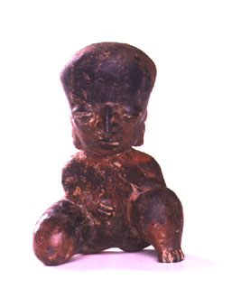 Chinesco Style (Type D) Nayarit Terracotta Seated Woman