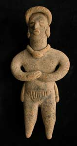 Tuxcacuesco-Ortices Style Colima Terracotta Sculpture of a Ballplayer