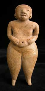 Mayan Sculpture Of A Standing Woman