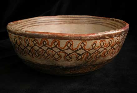 Nayarit Terracotta Polychrome Bowl