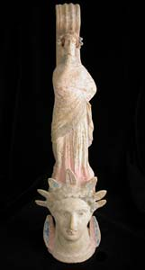 Canosan Vase in the Form of a Woman's Head
