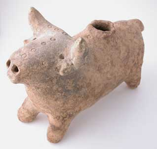 Bronze Age Terracotta Sculpture of a Bull