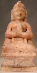 Indian Stone Sculpture of a Meditating Figure