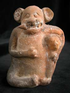 Molded Whistle Depicting A Jaguar God