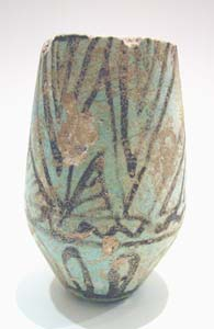 New Kingdom Faience Cosmetic Vessel
