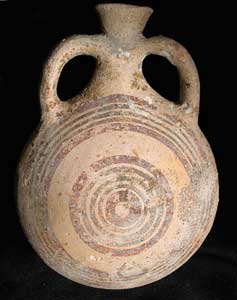 Late Bronze Age Terracotta Pilgrim's Flask