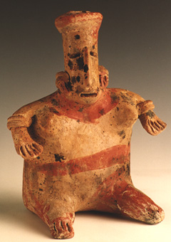 San Juanito Style Jalisco Terracotta Sculpture of a Seated Woman