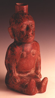 Colima Vessel in the Form of a Seated Female Hunchback